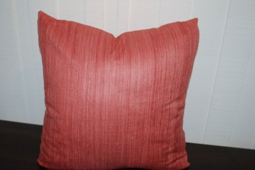 Custom Made Rose Pillow Cover In Silk Fabric