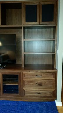 Custom Made Walnut Entertainment Centers