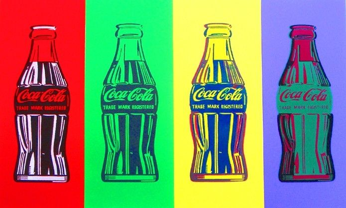 Hand Crafted Pop Art Coke Color By Pop Art Custommade Com