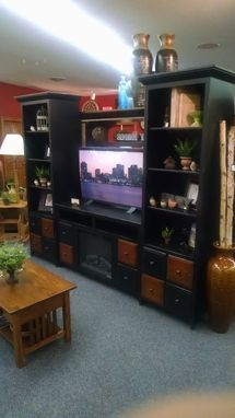 Custom Made Apothecary Entertainment Center Wall Unit
