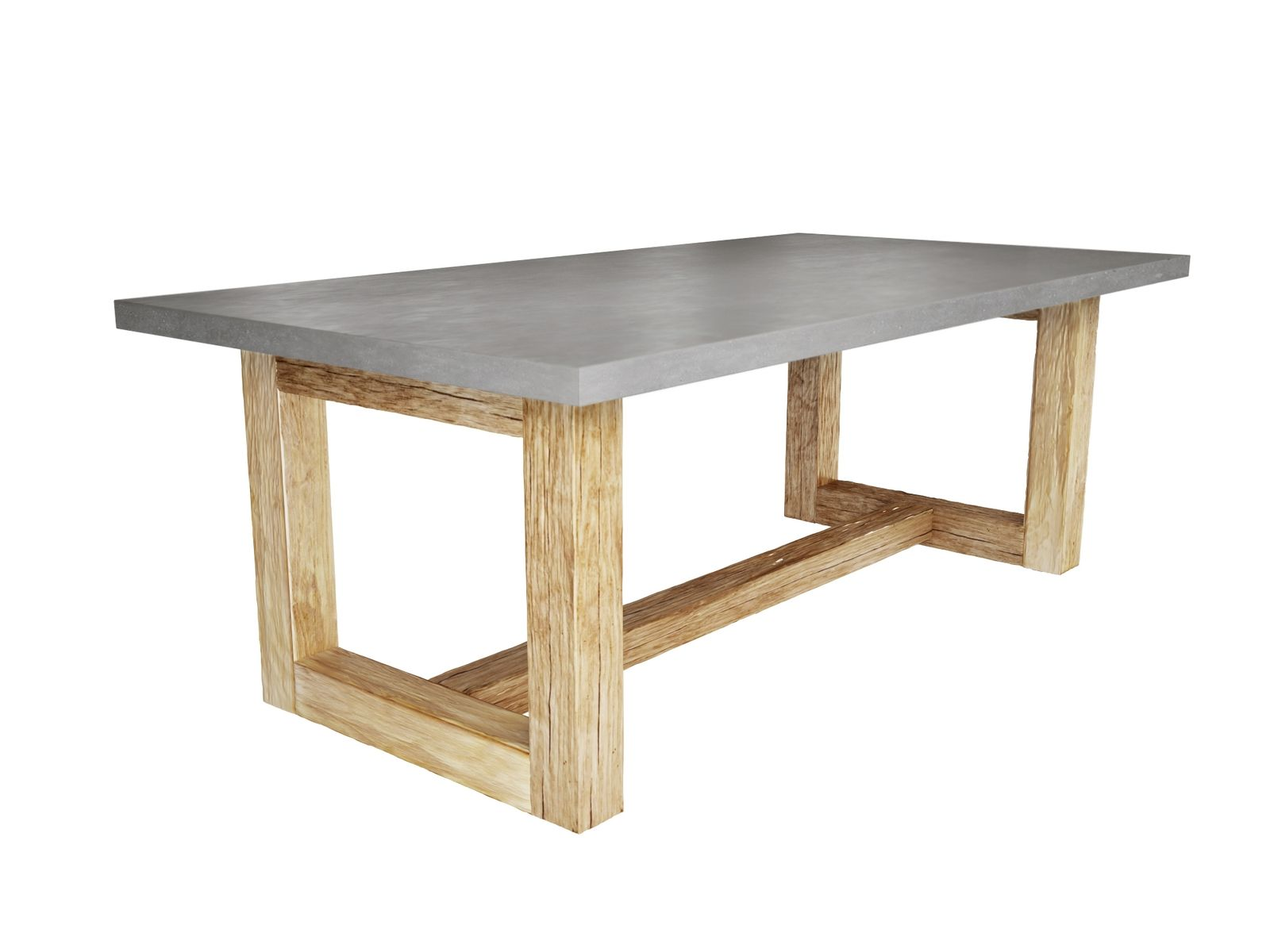 Hand crafted zen wood dining table by trueform concrete for Unique wood dining room tables