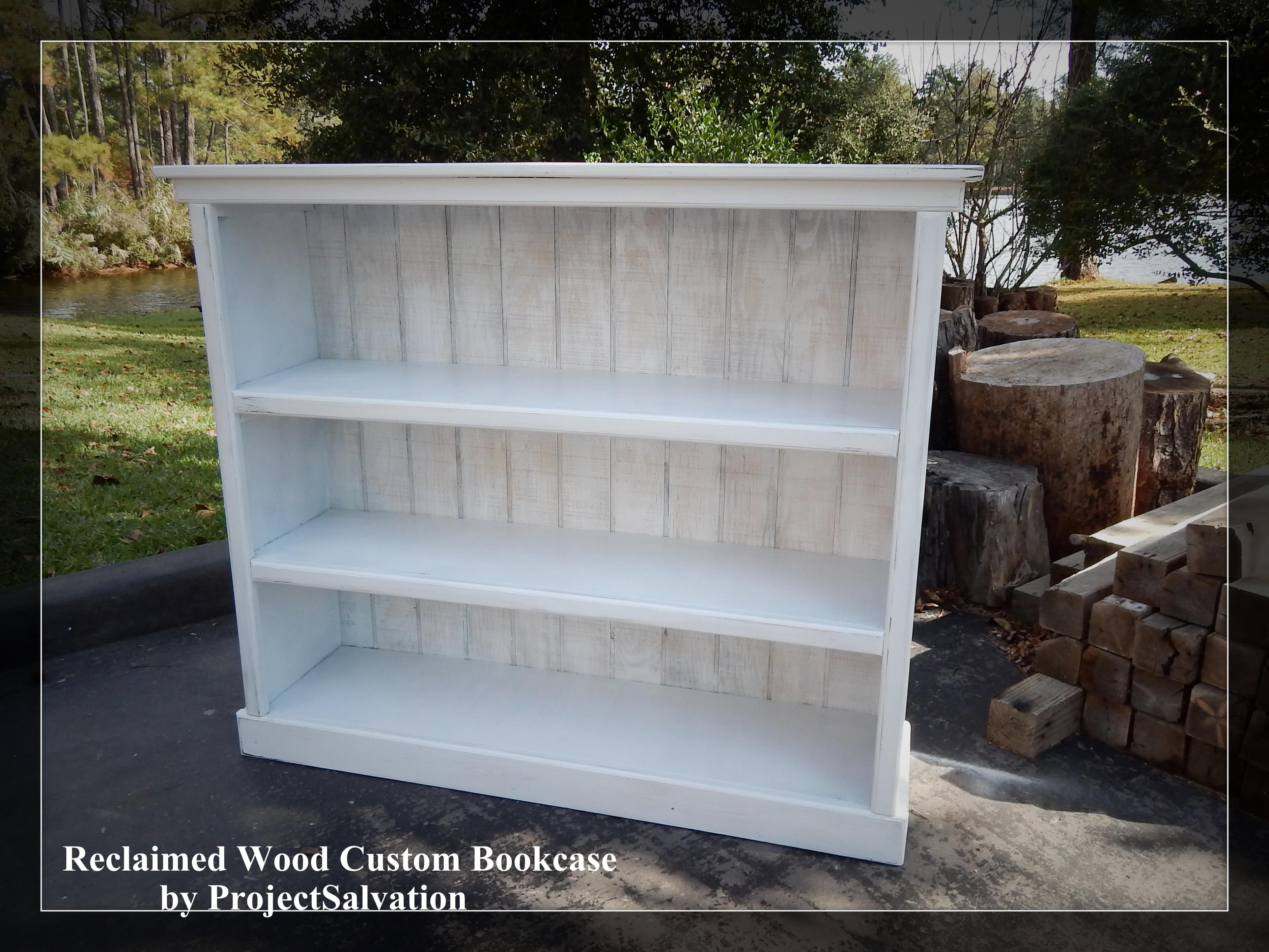 Custom Made Reclaimed Wood Bookcase Barnwood