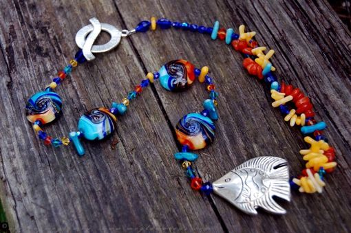 Custom Made Sun Sand Sea Fish Necklace