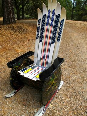 Custom Made Upcycled Adirondack Ski Chair
