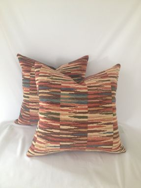Custom Made Chenille Native Print Pillow Cover
