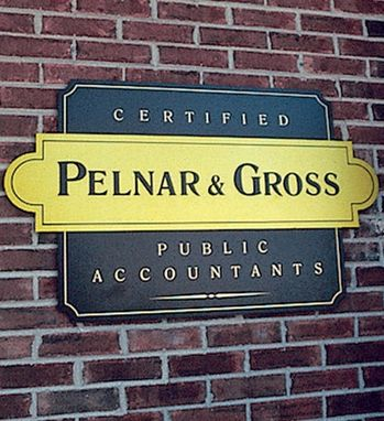 Custom Made Accounting Firm Exterior Sign Plate