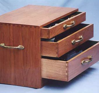 Custom Made Solid Cherry Small Chest