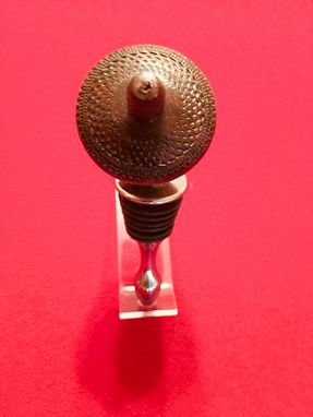 Custom Made Acorn Wine Stopper