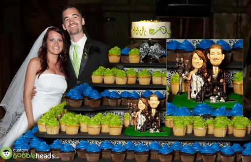 Custom Made Wedding Couple Cake Topper