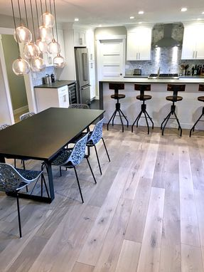 Custom Made Steel Dining Table With Custom Finishes
