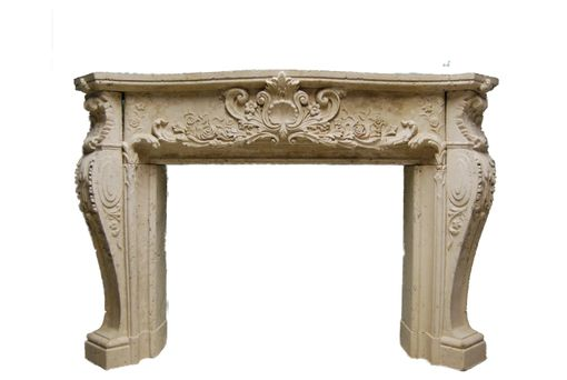 Custom Made Custom Cast Stone Louis Xiv Mantel