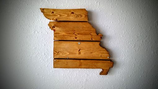 Custom Made Texas Wooden State Map Wall Art