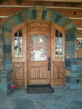 Custom Made Custom Door Entry With Artistic Cast Metal Panel