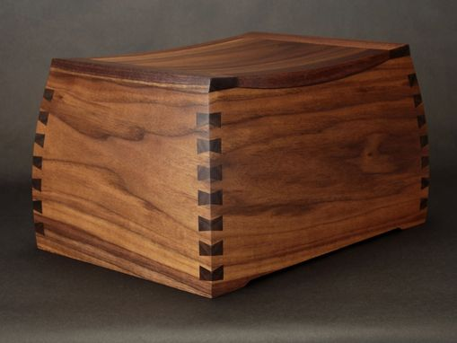 Custom Made Black Walnut Curved Dovetail Urns