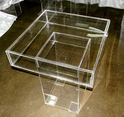 Custom Made Lucite / Acrylic Game Table - Cake Table.  Handcrafted, Custom Size Welcome