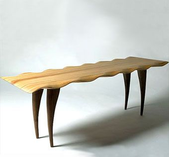 Custom Made Wave Bench By Celia Greiner