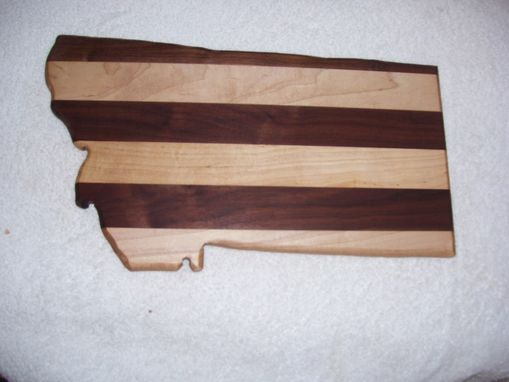 Custom Made Montana Cutting Board Made From Maple And Walnut