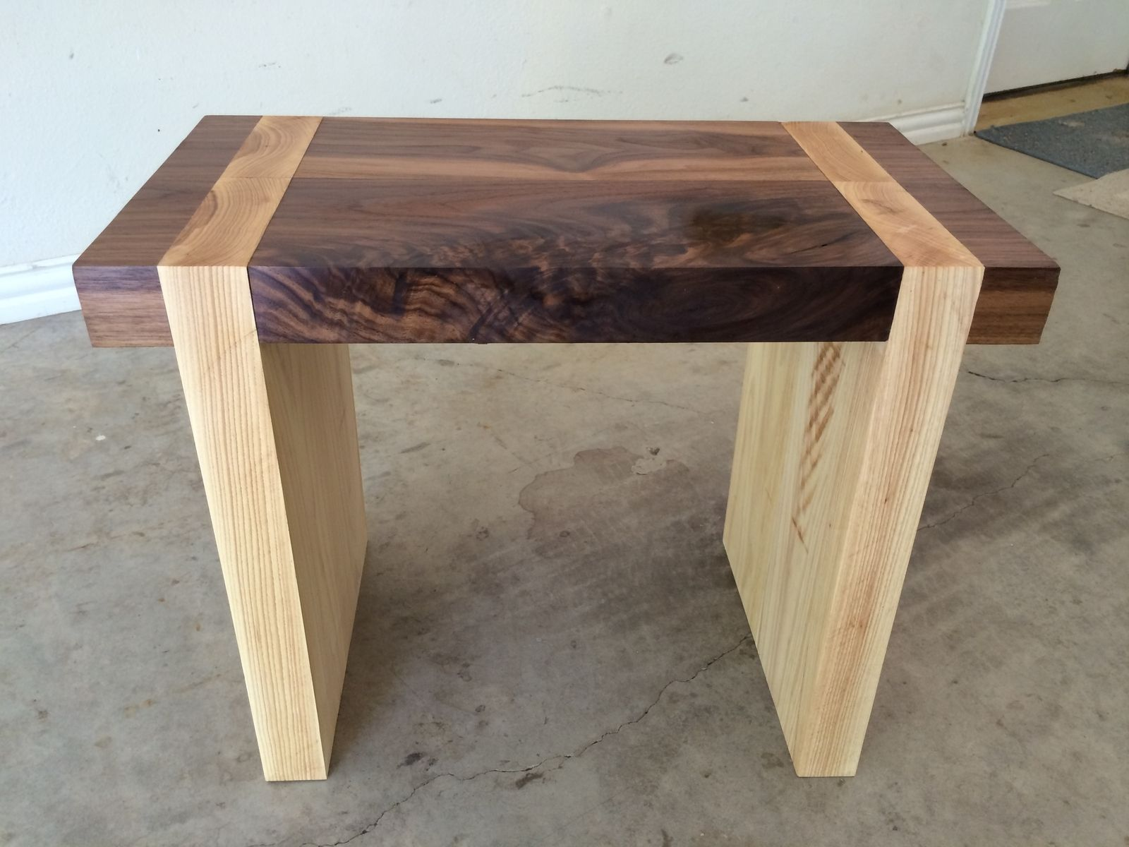handmade pecan  walnut bench by texas tables  custommadecom - custom made pecan  walnut bench