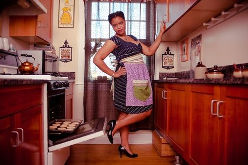 Custom Made Adorable Over-Size Pocket Classic Half-Apron - Made To Order