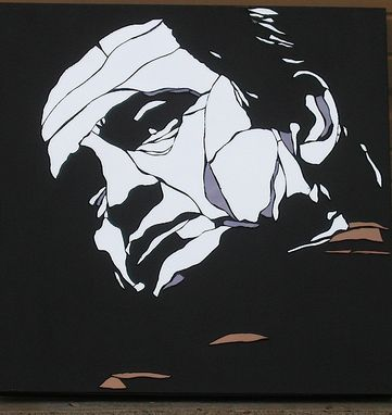 Custom Made Johnny Cash Custom Mirror Art