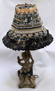 Custom Made Jeweled Lamp