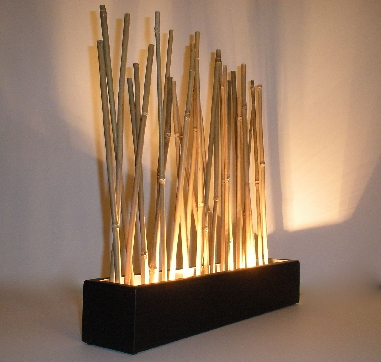 Light Pole Japan: Hand Crafted Bamboo Led Mood Lighting
