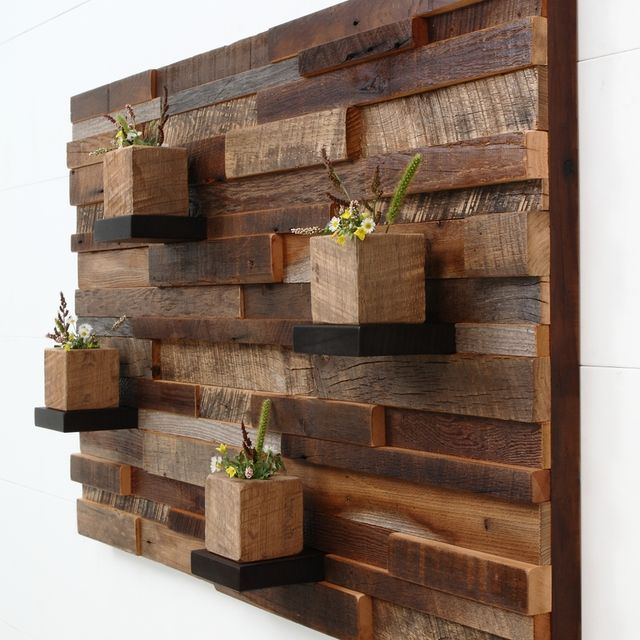 hand crafted reclaimed wood wall art made of old barnwood by