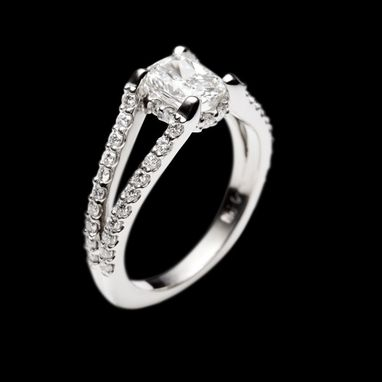 Custom Made Palladium & Diamond Engagement Ring