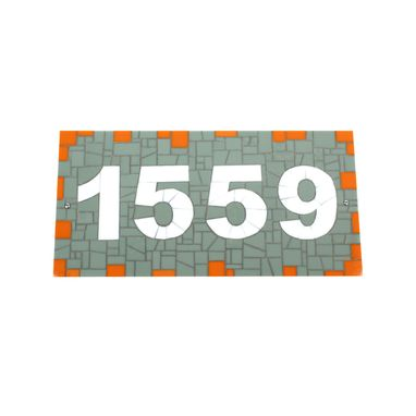 Custom Made Address Sign -- Stained Glass Mosaic House Number Plaque
