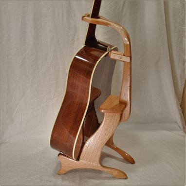Custom Made Oak Model 2 Guitar Stand