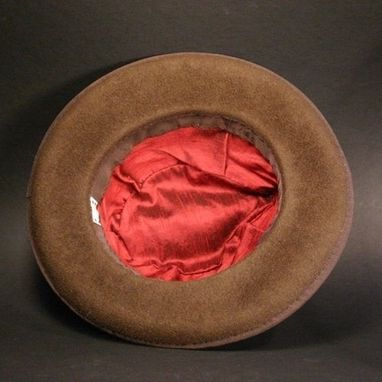 Custom Made Chocolate Brown Fedora Hat For Men Or Women, Archie Goodwin, Made To Order
