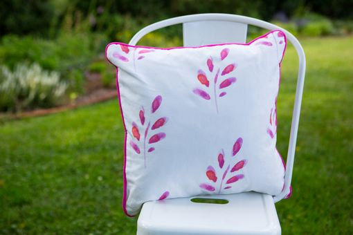 Custom Made Decorative Pillow - Pink Petals, 18