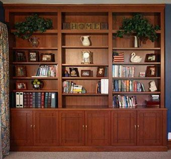 Custom Made Cherry Built-In Wall Unit