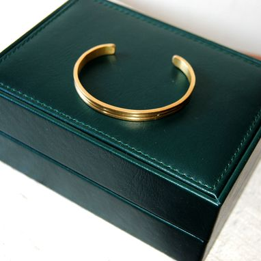 Custom Made 18k Gold Cuff Bracelet Sculpted Ooak Artisan