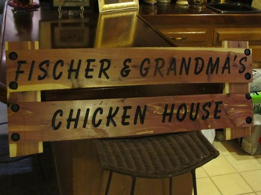 Custom Made Chicken Sign
