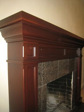 Custom Made Cherry Fireplace Mantel
