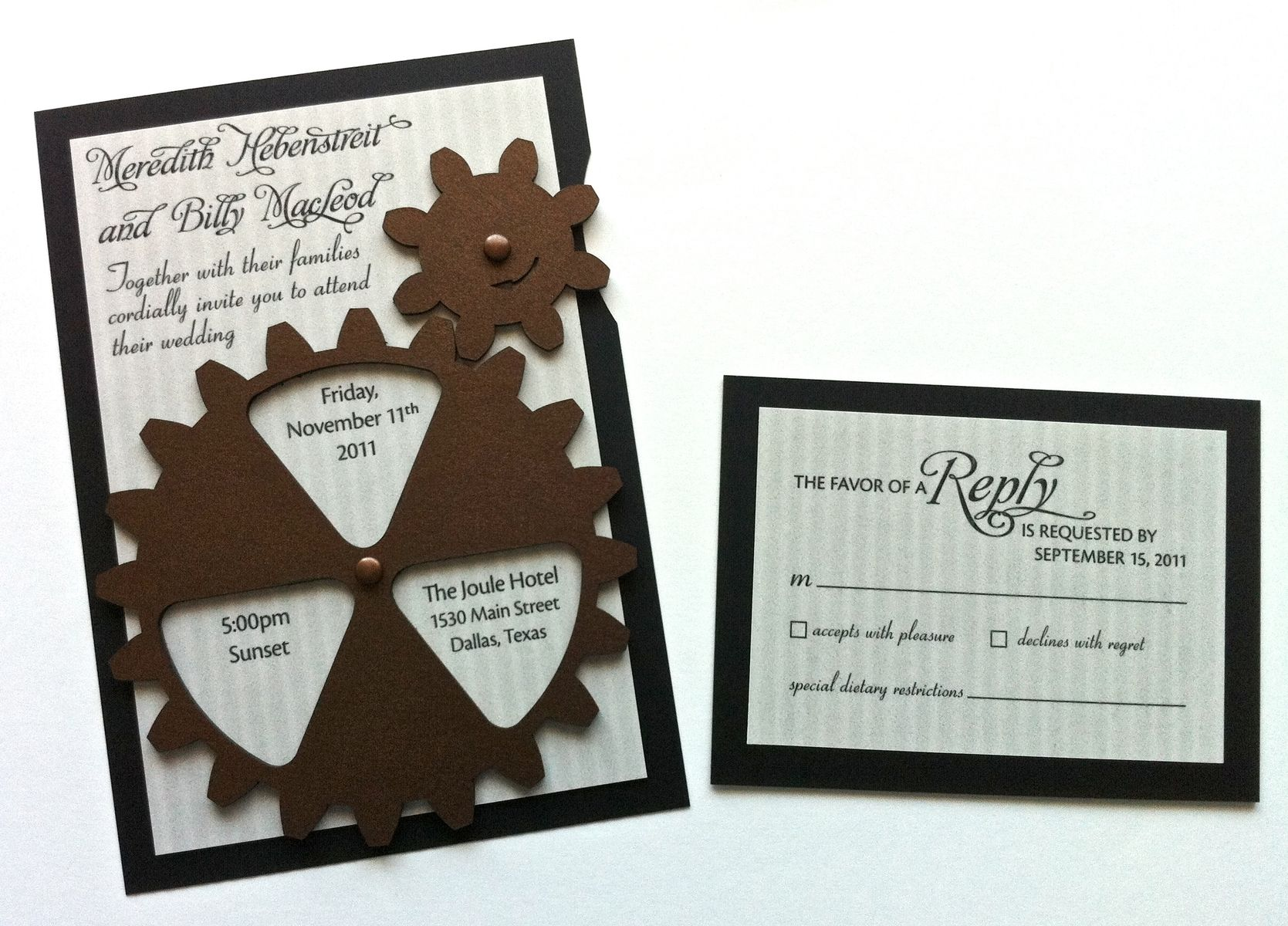 Hand Made Animated Gear Steampunk Wedding Invitation by Artifacture ...