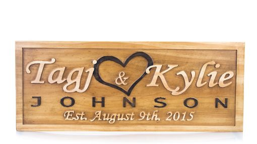 Custom Made Family Name Sign Established Sign Personalized Last Name Sign Wedding Gift Anniversary Gift