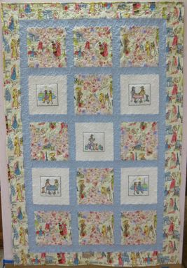 Custom Made Custom Made Springtime In Paris Throw Quilt