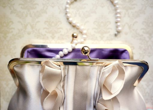 Custom Made Custom Satin Bridal Purse With Ruffles