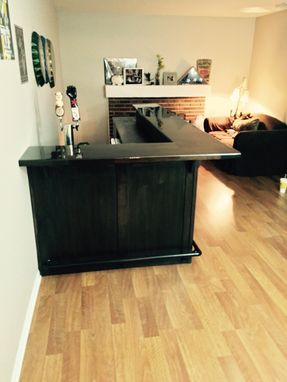 Custom Made Walnut In Home Bar