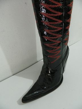 Handmade Made To Order Genuine Patent Leather Cowboy Boot