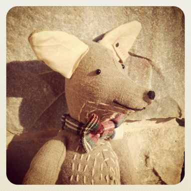 Custom Made Frederick --The Scruffy Fox In A Bow Tie