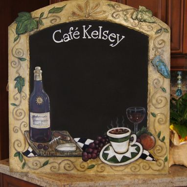 Custom Made Custom Kitchen Personalized Cafe Style Chalkboards