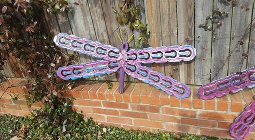 Custom Made Large Metal Dragonfly Wall Hanger Garden Art By Raymond Guest