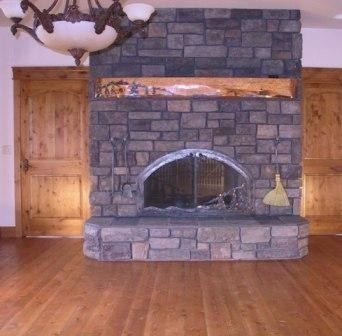 Custom Made Custom Arched Fireplace Doors On See Through Fireplace