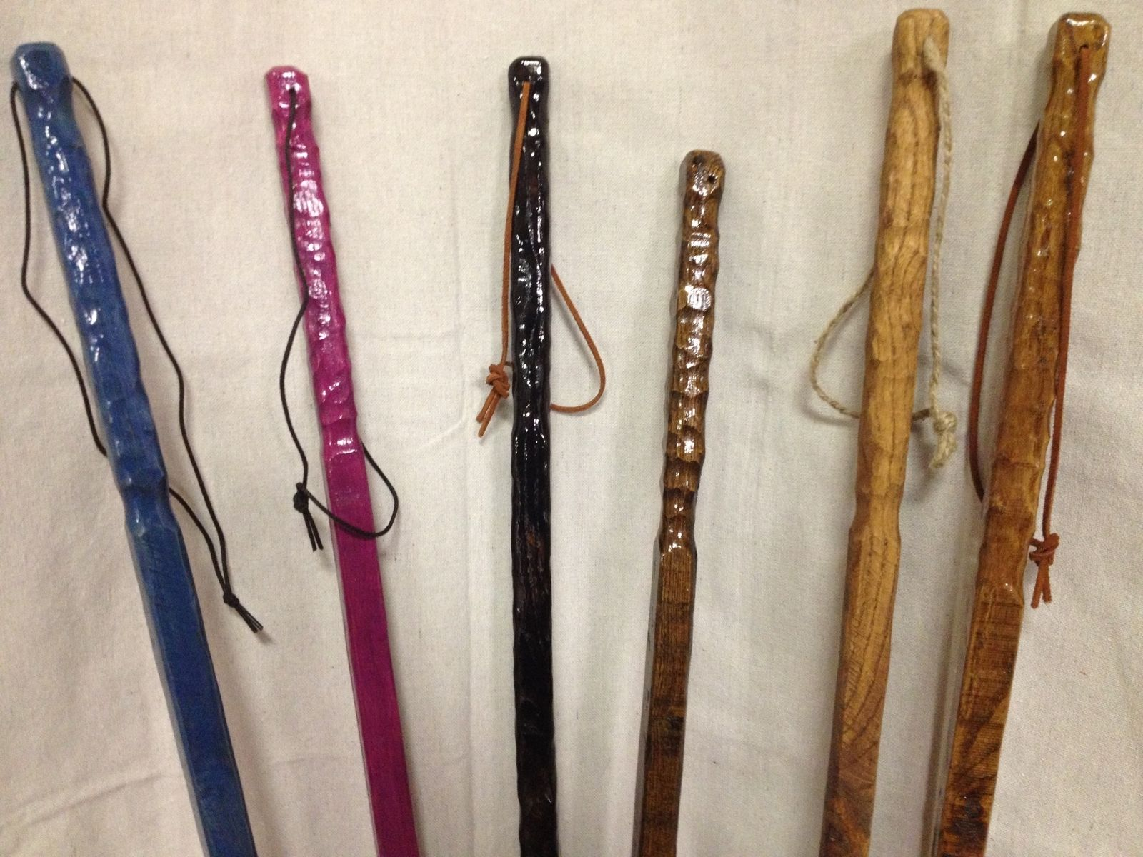 Wooden Walking Sticks ~ Handmade square wooden rustic walking sticks by the