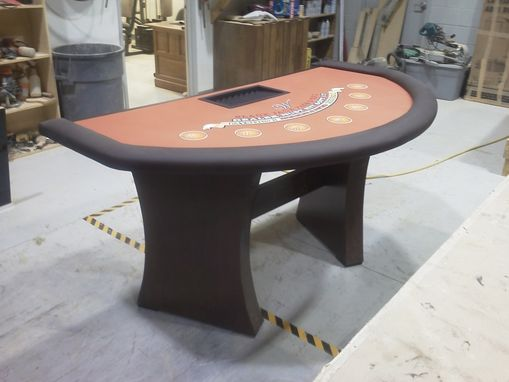 Custom Made 12' Craps Table And Matching Blackjack Table