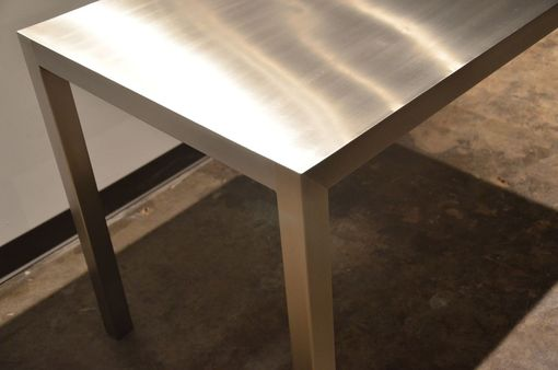 Custom Made Seamless Stainless Steel Dining Table