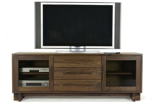 Custom Made Cherry Skyline Media Console